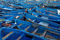 fishing boats in Essaouira Harbor