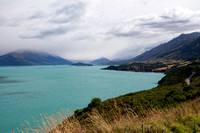 Looking north along the road to Glenorchy from Queenstown